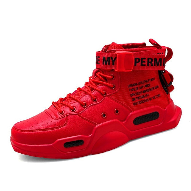 Mens Chunky Hi-Tops - Red