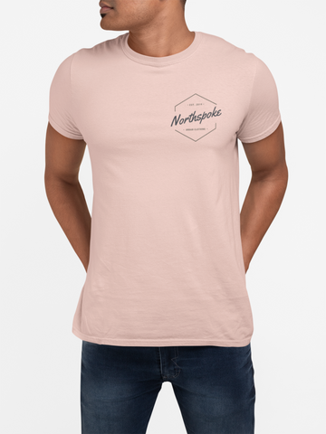 Men's EST.2019 Crew Neck Tee - Peach