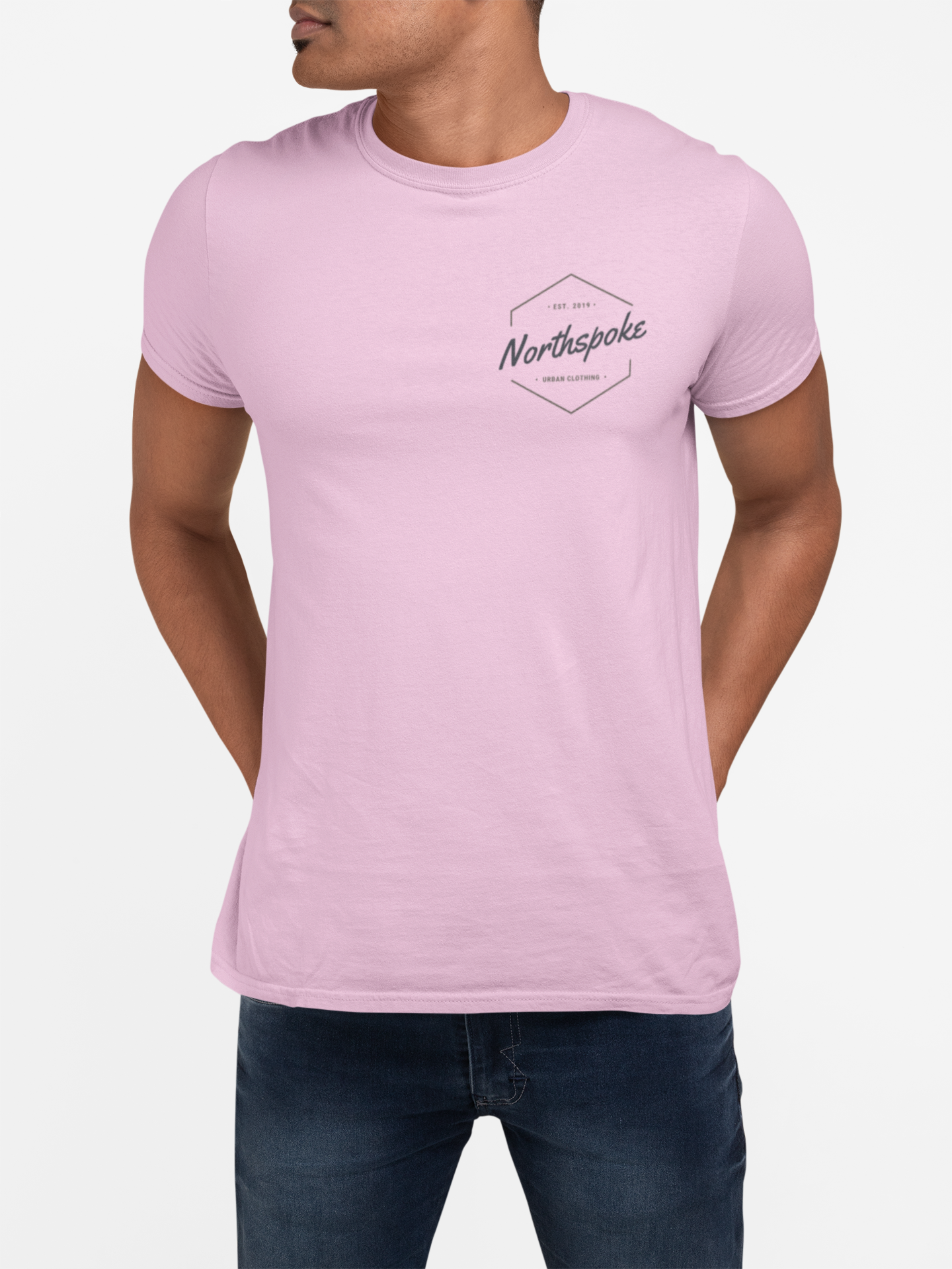 Men's EST.2019 Crew Neck Tee - Pink