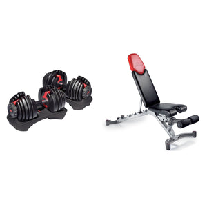 Bowflex® SelectTech® 552 Dumbbells (Set Of 2) & 5.1 Adjustable Bench Bundle
