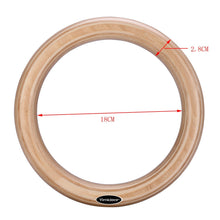 Load image into Gallery viewer, Wood Olympic Gymnastic Rings with Adjustable Straps