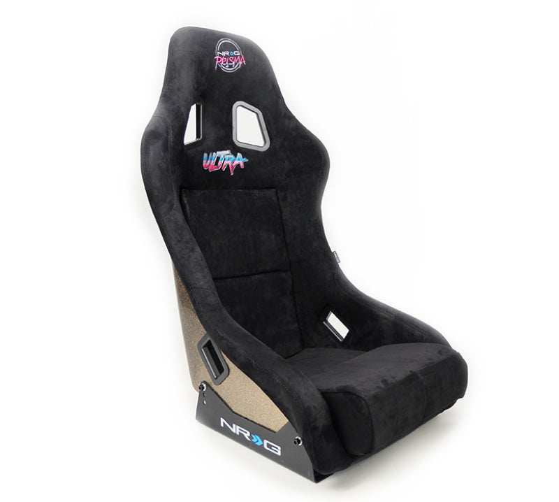 NRG FRP Bucket Seat ULTRA Edition - Medium (Black Alcantara/Gold Glitter Back)