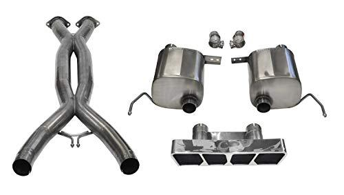 Corsa Performance 14765CB Sport Cat-Back Exhaust System Dual Rear Exit 2.75 in. Dia. Incl. RH-LH Muffler Assy/Clamp-On RH-LH Elbow Assy/Hardware Kit/Polygon Tail Light Polished Pro-Series Tips Sport Cat-Back Exhaust System
