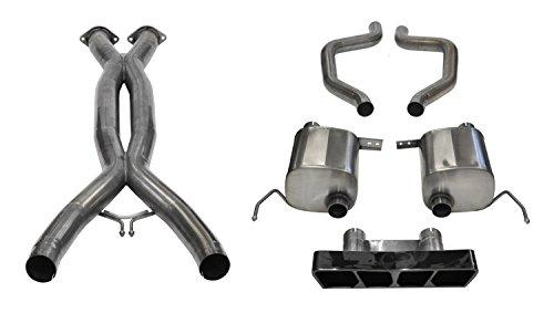 "CORSA EXHST 14767CBBLK 2.75"" 2015 2019 C7 Z06 Chevrolet Corvette Dual Rear Exit Cat back Exhaust System with Polygon Tip Xtreme Sound Level"