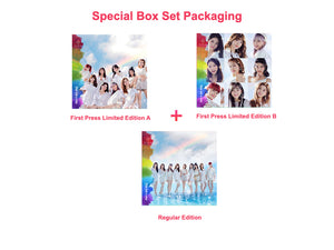 "NiziU Debut Single ""Step and a step"" Limited Box Set Package A, B & Regular Editions"