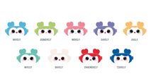 "Load image into Gallery viewer, ""ONCE Japan 3rd Anniversary"" BABY LOVELYS Eye Mask"