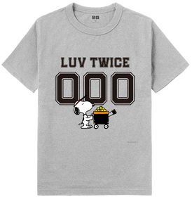 LUV TWICE x Peanuts x Uniqlo Crew Neck T-Shirt (Specify Your Own Numbers)