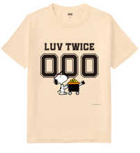 Load image into Gallery viewer, LUV TWICE x Peanuts x Uniqlo Crew Neck T-Shirt (Specify Your Own Numbers)