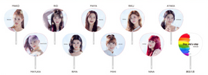 "NiziU ""Step and a step"" Pop Up Store Collector Set Image Pickets / Uchiwas Complete 9 Members"
