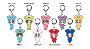 TWICE x Tower Records Japan Limited Collector Set Keychains Complete 9 Members