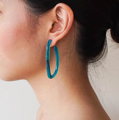 """I'm Hooked - Ocean"" Earrings"