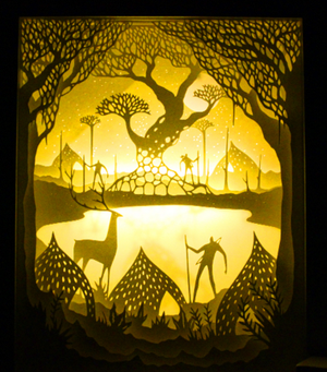 silhouette cut files,light box,celtic deer god,mythical creatures,norse mythology deer god,goddess with antlers,reindeer goddess,artemis deer,lost in forest story,deep shadow box,custom shadow box,how to make shadow boxes,shadow box ideas