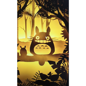 "My Neighbor Totoro"" Studio Ghibli Lightbox, 3D Card, 3D Wall Art"