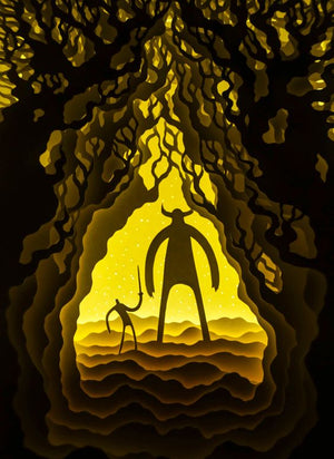 win the giant monster Caveman Digital Design Art cave gifts,cave glow,caveman invites,cave in,cave king,cave lamp,cave man shadowbox light box thoughtful awesome gift lantern lighting diy handmade hero superhero journey to the west forest card decor