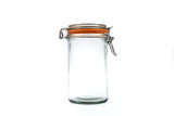 Flip-Top Glass Jar