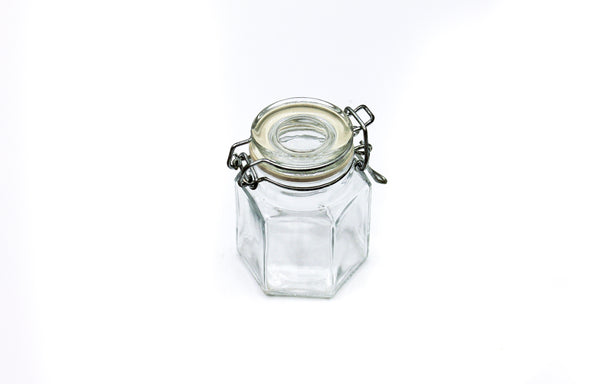 Flip-Top | Hexagon Glass Pot