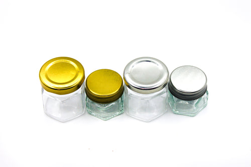 Screw-Top | Hexagon Glass Pot