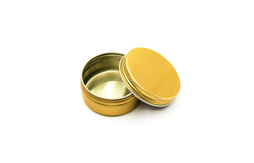 Gold Tin Can |  Round