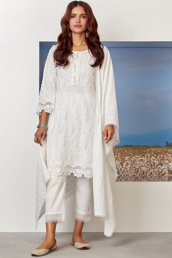 Mulmul Cotton BAYBREEZE KURTA With SAGE PANT