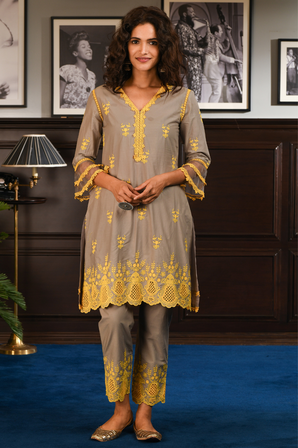 Mulmul Cotton BLISS Kurta With BLISS PANT