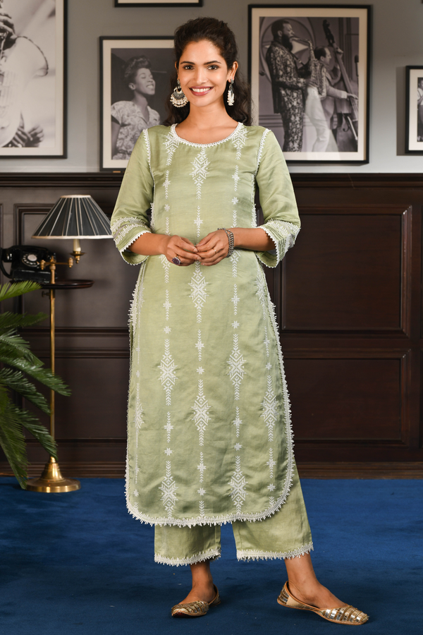 Japanese Silk Dita Kurta with Dita Pants