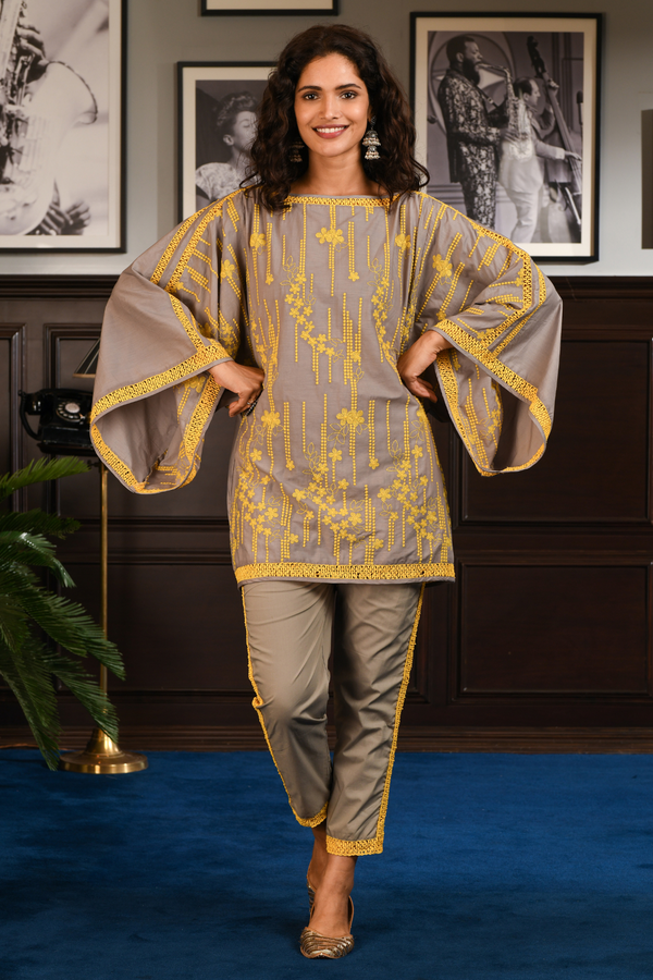 Mulmul Cotton JOYCE Kurta With JOYCE PANT