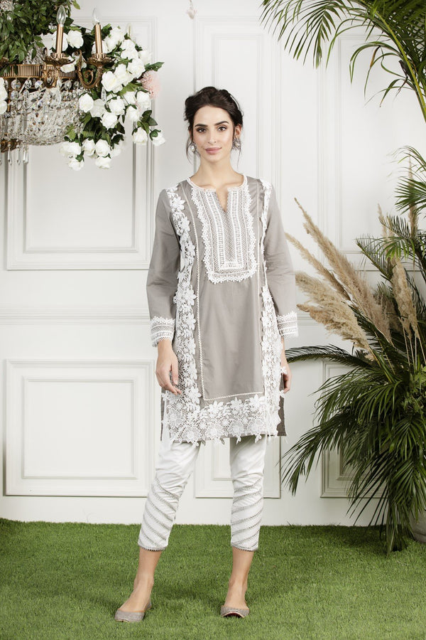 Mulmul cotton quill kurta