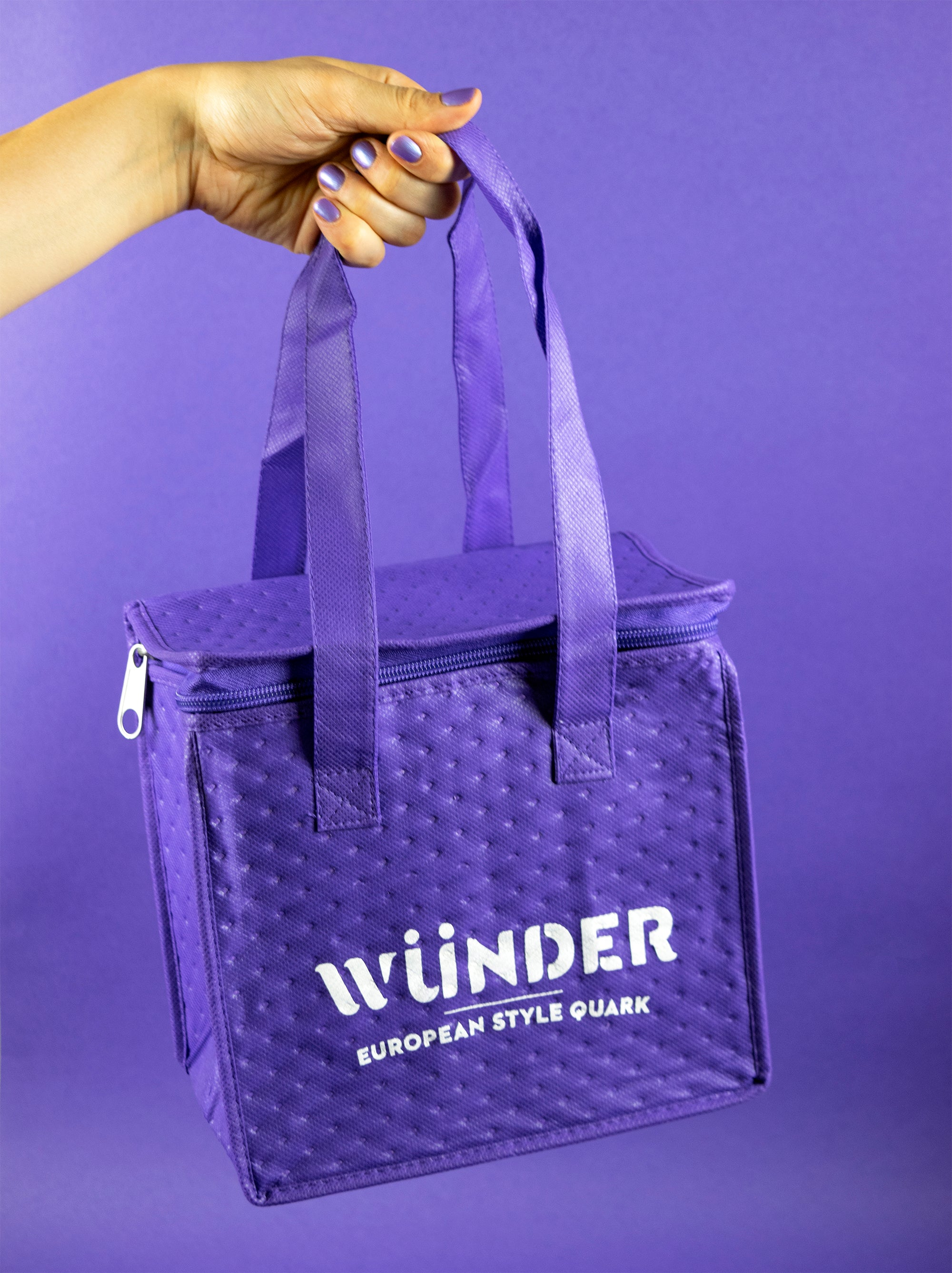 Purple Insulated Cooler Tote - Small