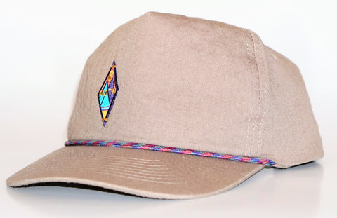 5-panel washed khaki cord cap