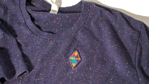 moth thrift rainbow nep t-shirt in navy