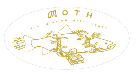 moth fly fishing habiliments sticker