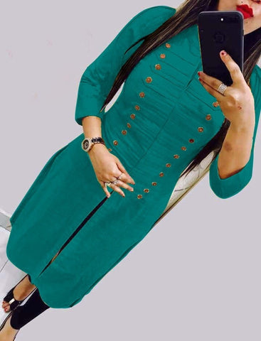 Function Wear Rayon Selfie Stitched Kurti For Women