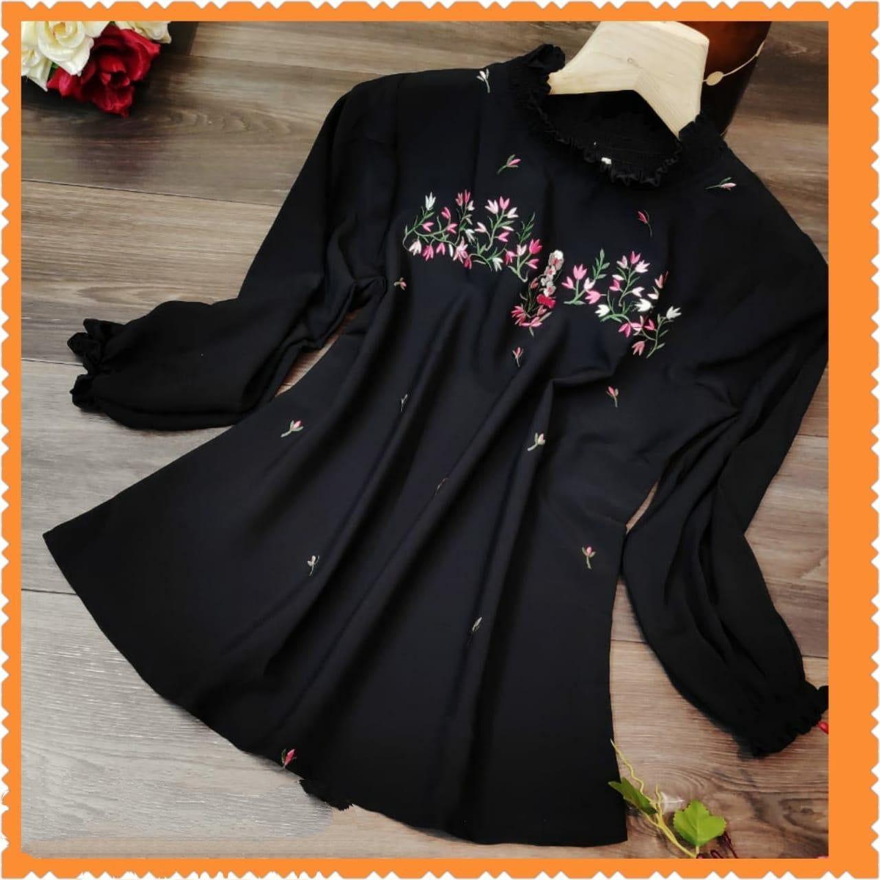 Outstanding Black Rinbox Designer Western Wear Top for Party Wear
