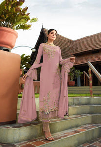 Fantastic Light Pink Georgette With Embroidered Work Plazo New Salwar suit Design Online