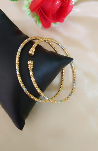 Magnificent Golden Silver Colored Artificial Bangles Set