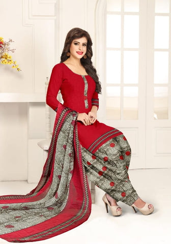 Alluring Maroon Color Function Wear Leyon Fancy Printed Dress Material for women