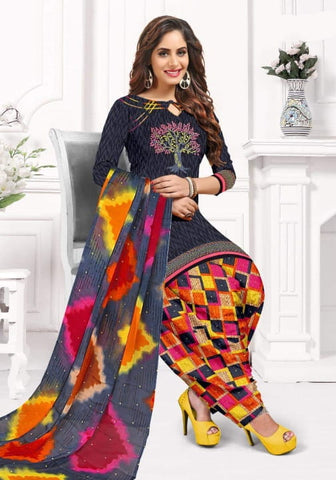 Sensational Multi Color Fancy Printed Leyon Designer Salwar Suit For Party Wear