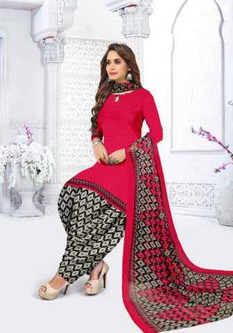 Stylish Rani Pink Color Party Wear Leyon Fancy Printed Salwar Suit