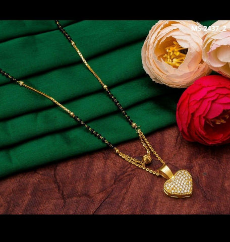 Beautiful Heart Shape Mangalsutra Latest Design Set