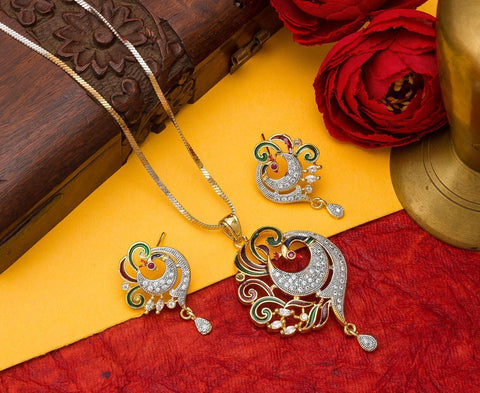 Gorgeous Imitation Pandent Jewellery Set