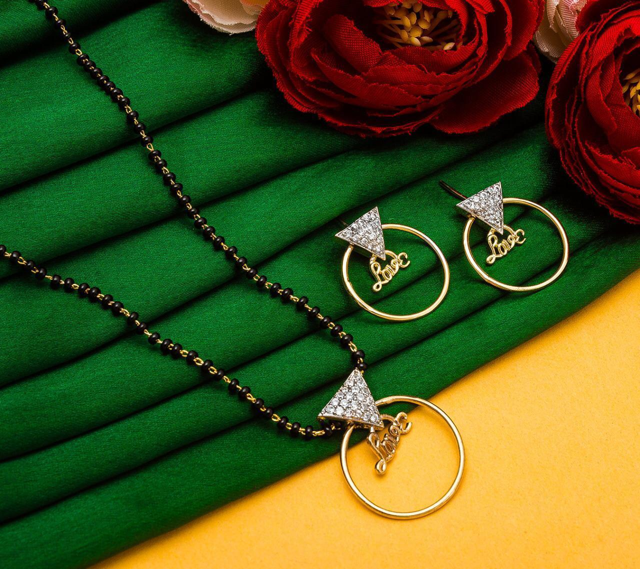 Lovely Imitation Mangalsutra Set
