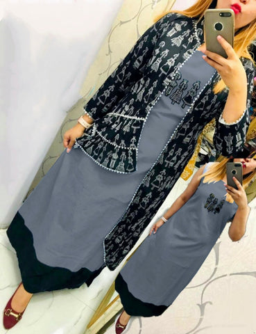 Grey Color Selfi Designer Kurti