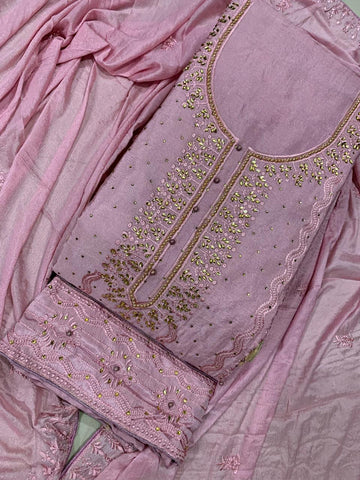 Ultra Color Designer Chinon Embroidered Machine Stone Moti Work Salwar Suit For Wedding Wear