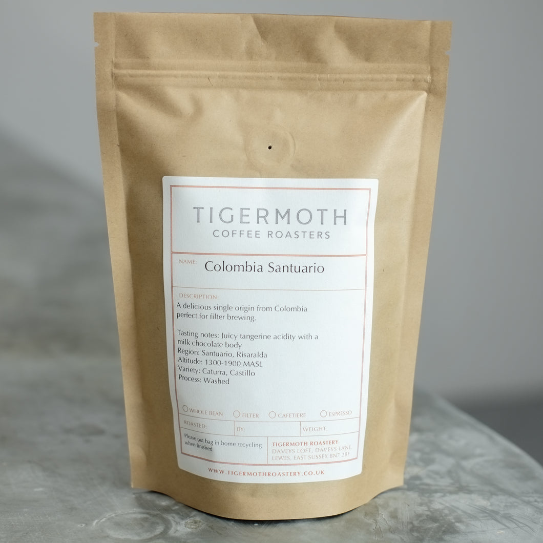 Tigermoth Single Origin Colombia Santuario Coffee