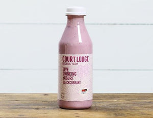 Court Lodge Organic Blackcurrant Drinking & Pouring Yoghurt (250ml)