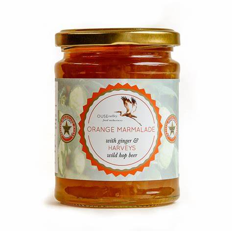 Ouse Valley Foods Orange Marmalade with Ginger & Harvey's Wild Hop Beer