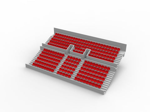 260 ROUNDED SEATS FOR A TWO TIER SUBBUTEO GRANDSTAND (REF 61216 AND 61217)