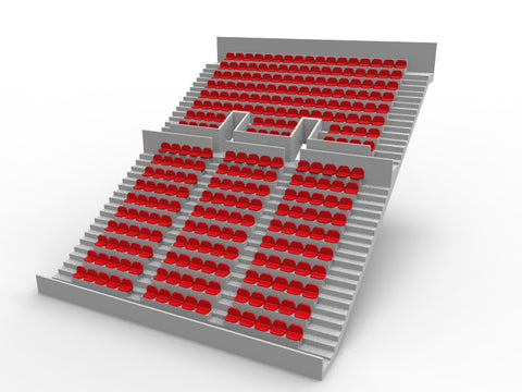 276 ROUNDED SEATS FOR A TWO TIER ZEUGO GRANDSTAND