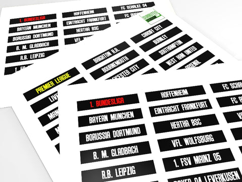 NAME TAGS FOR THE VINTAGE SCOREBOARD FOR SUBBUTEO