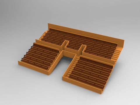 21 BENCHES FOR A TWO TIER VINTAGE SUBBUTEO GRANDSTAND TUNNEL VERSION